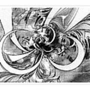 Tendrils In Pencil 03 Art Print