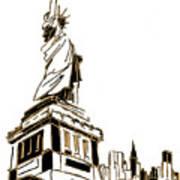 Tenement Liberty Art Print