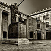 Tennessee War Memorial Black And White Art Print