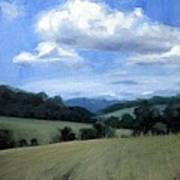 Tennessee's Rolling Hills And Clouds Art Print