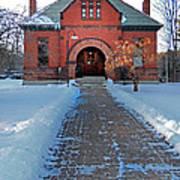 Tenney Memorial Library Newbury Vermont Art Print