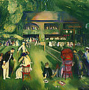 Tennis At Newport 1920 Art Print