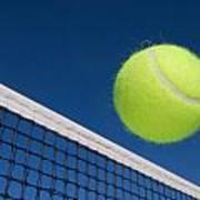 Tennis Ball And Net Art Print by Joe Belanger