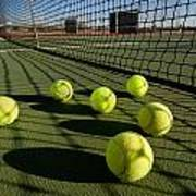 Tennis Balls And Court Art Print by Joe Belanger