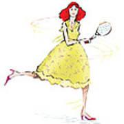 Tennis Lady Art Print