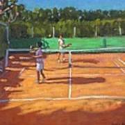 Tennis Practice Art Print