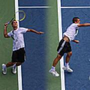 Tennis Serve By Mikhail Youzhny Art Print