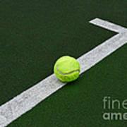 Tennis - The Baseline Art Print