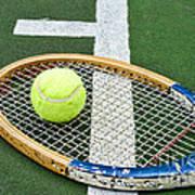 Tennis - Wooden Tennis Racquet Art Print by Paul Ward