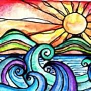 Tequila Sunrise #aceo #artcard #art Art Print