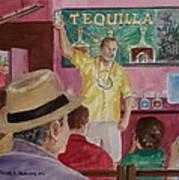 Tequilla Tasting At Puerto Vallarta Mexico Art Print
