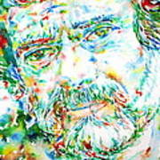 Terence Mckenna - Watercolor Portrait Art Print