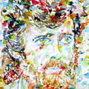 Terence Mckenna - Watercolor Portrait.3 Art Print