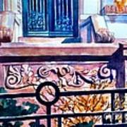 Terra Cotta And Iron Fence Art Print