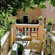 Terrace At A Guest House At Waterloo Art Print