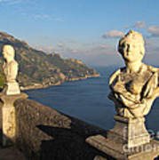 Terrace Of Infinity In Ravello On Amalfi Coast Print by Kiril Stanchev
