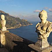 Terrace Of Infinity In Ravello On Amalfi Coast Art Print