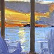 Terrace Sunset Art Print