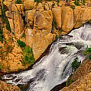 Terraced Falls Art Print