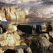 Terraces, Mammoth Hot Springs Art Print