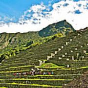 Terraces Of Machu Picchu-peru Art Print