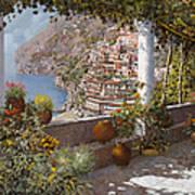 terrazza a Positano Art Print