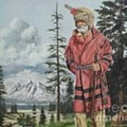 Terry The Mountain Man Art Print