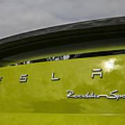 Tesla Roadster Art Print