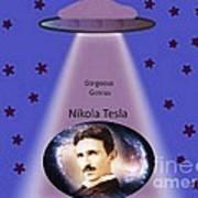 Tesla The Gorgeous Genius Art Print