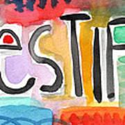 Testify- Colorful Pop Art Painting Art Print