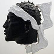 Tete De Maure - Papier Mache Art Print by Christian V Stanescu