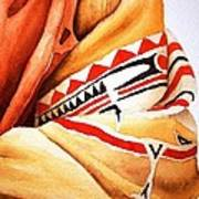 Teton Dacota Indian Woman Detail Art Print