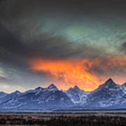 Teton Explosion Print by Mark Kiver