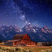 Teton Nights Art Print by Darren  White