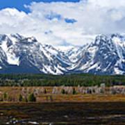 Teton Panorama I Right Panel Art Print