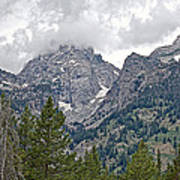 Teton Peaks Near Jenny Lake In Grand Teton National Park-wyoming- Art Print