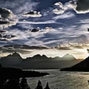 Teton Range Sunset Art Print