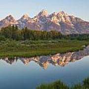 Teton Reflecting Art Print