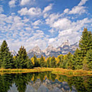Teton Reflections Art Print