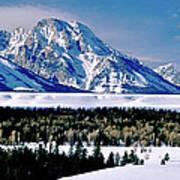 Teton Valley Winter Grand Teton National Park Art Print