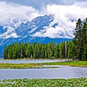 Tetons From Heron Pond In Grand Teton National Park-wyoming Art Print