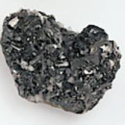 Tetrahedrite And Quartz Crystals Art Print