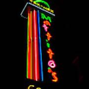 Tex Mex Cantina Neon Art Print