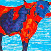Texan Longhorn Art Print