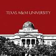 Texas A And M University - Dark Red Art Print