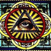 Eye Of Providence Texas Church Window Art Print