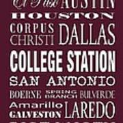 Texas Cities College Station Art Print