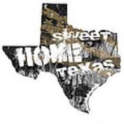 Texas Map Cool Art Print