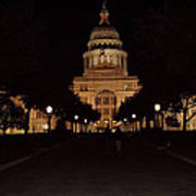 Texas State Capital Art Print