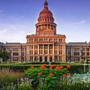 Texas State Capitol Summer Morning - Austin Texas Art Print